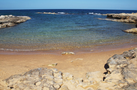 spiaggia baia dei turchi alimini otranto