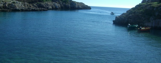in barca da castro marina fino ad otranto